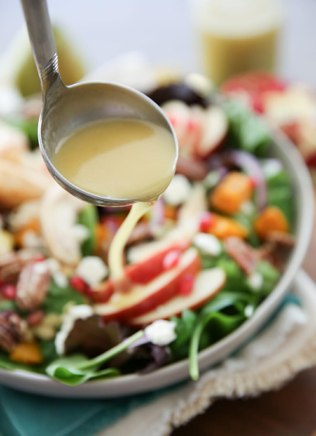 Honey Cider Dressing on Salad