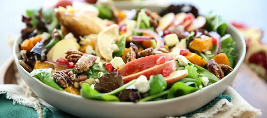Autumn Harvest Salad in Bowl