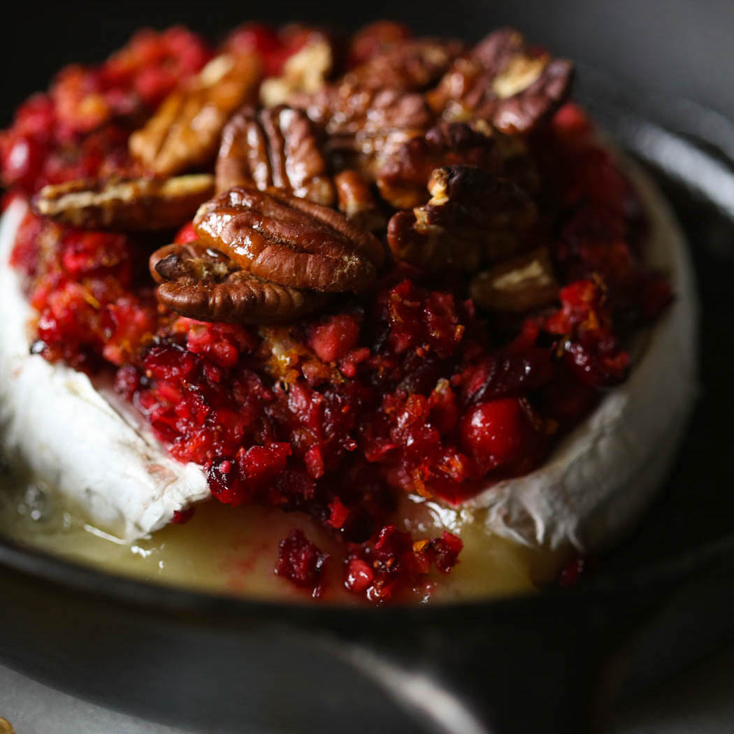 Honey Cranberry Orange Baked Brie