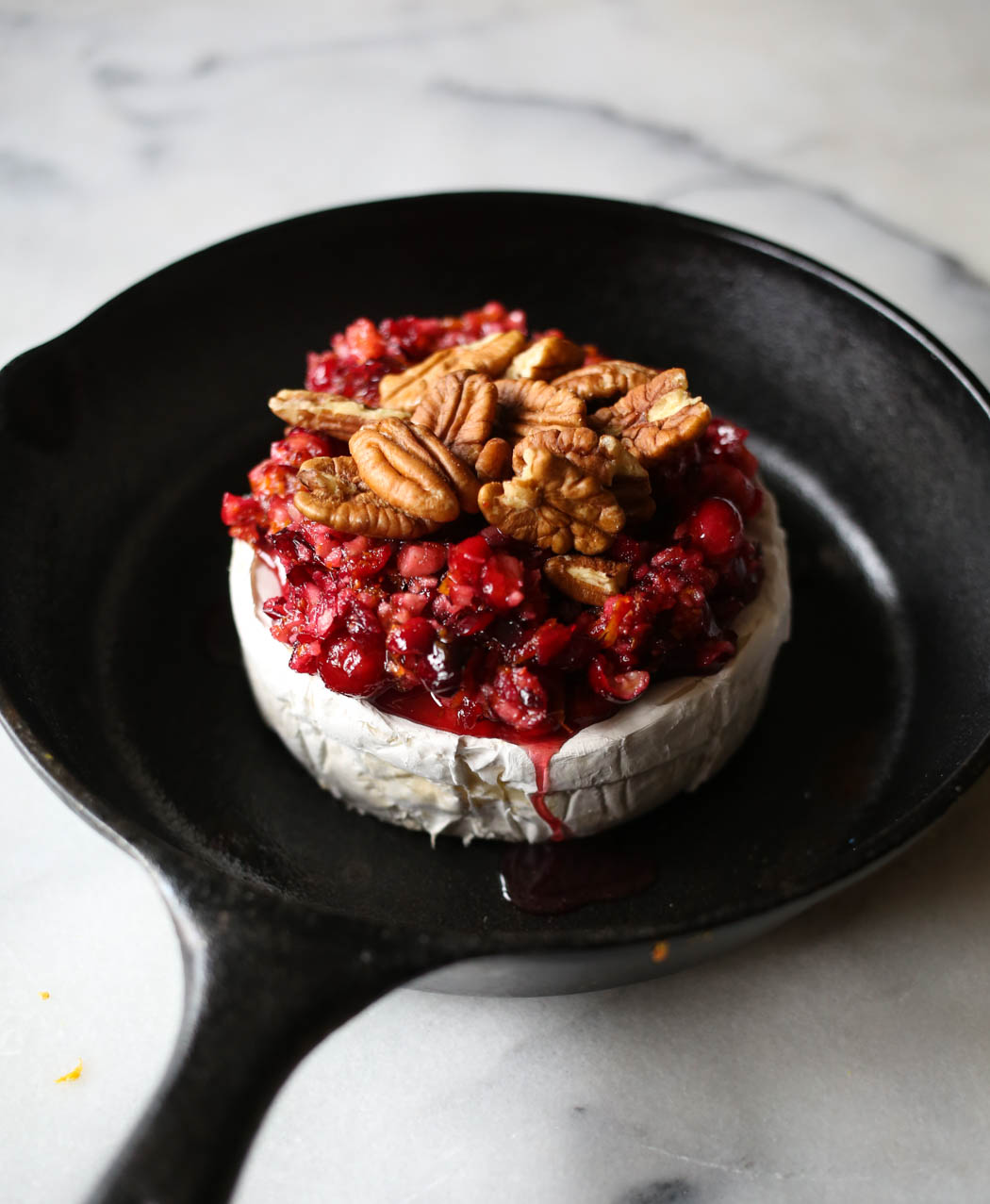 orange cranberry baked brie from our best bites