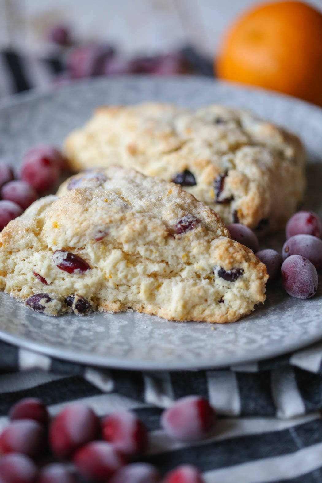 Orange Cranberry Scones from Our Best Bites
