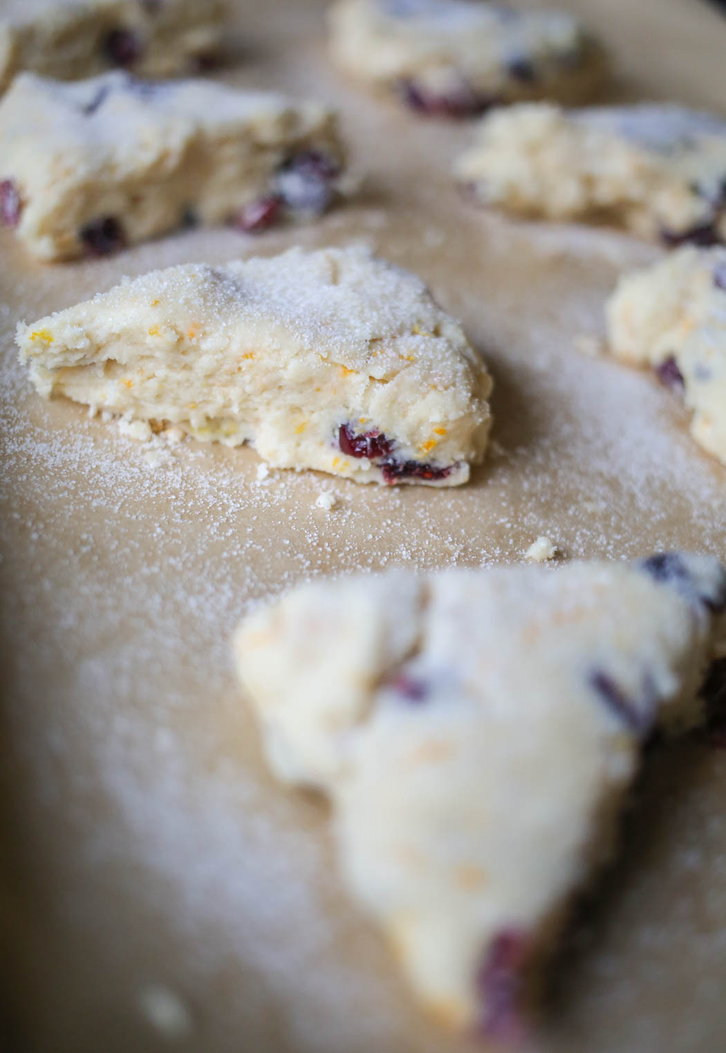 sugared Orange Cranberry Scones from Our Best Bites