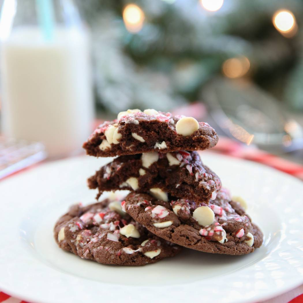 Small Batch Chocolate Peppermint Bark Cookies