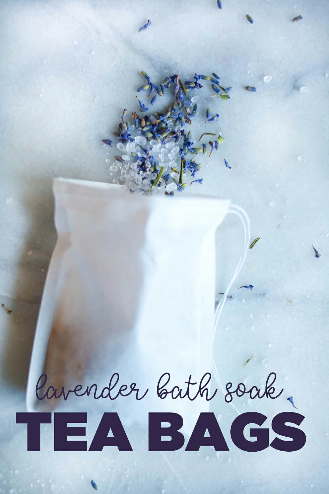 lavender bath soak tea bag