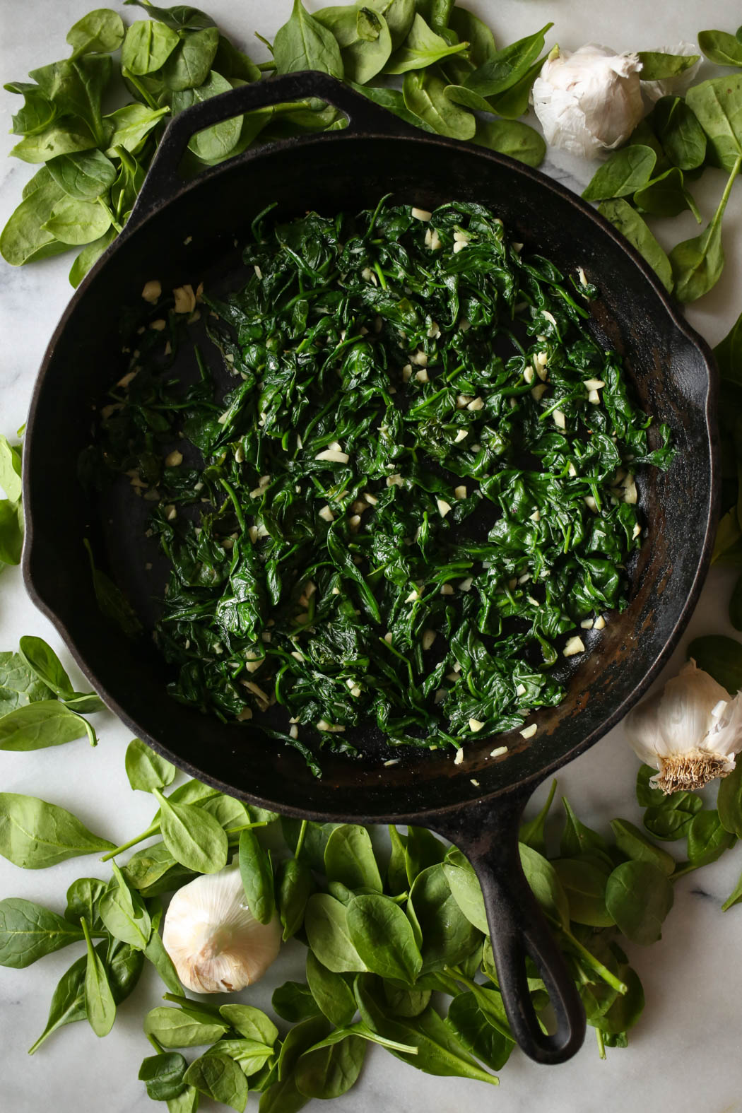 sauteed garlic spinach from our best bites