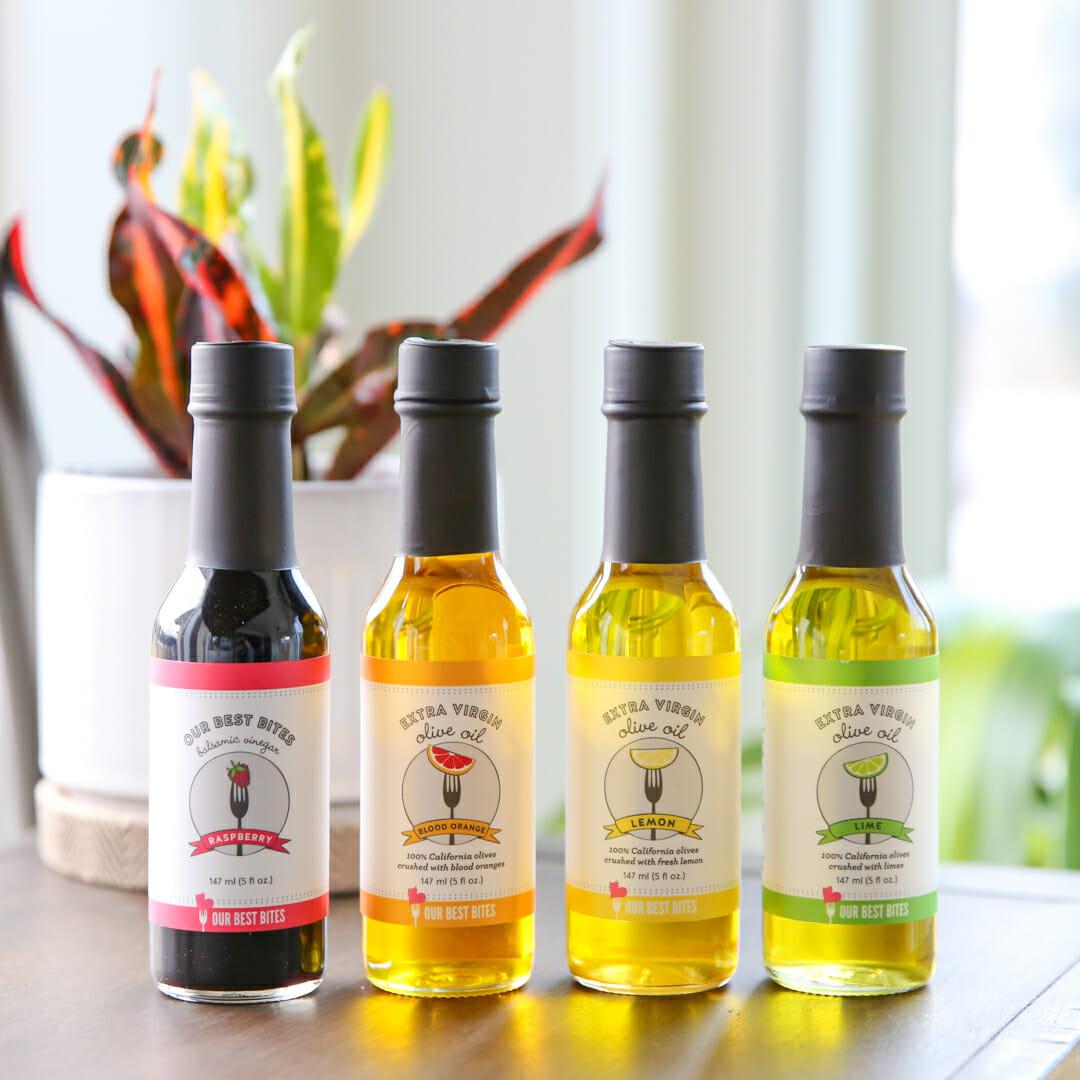 Flavored Olive Oil Bottles