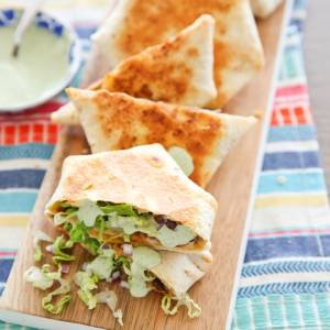 Beef and Cheese Crunch Wraps on Plate
