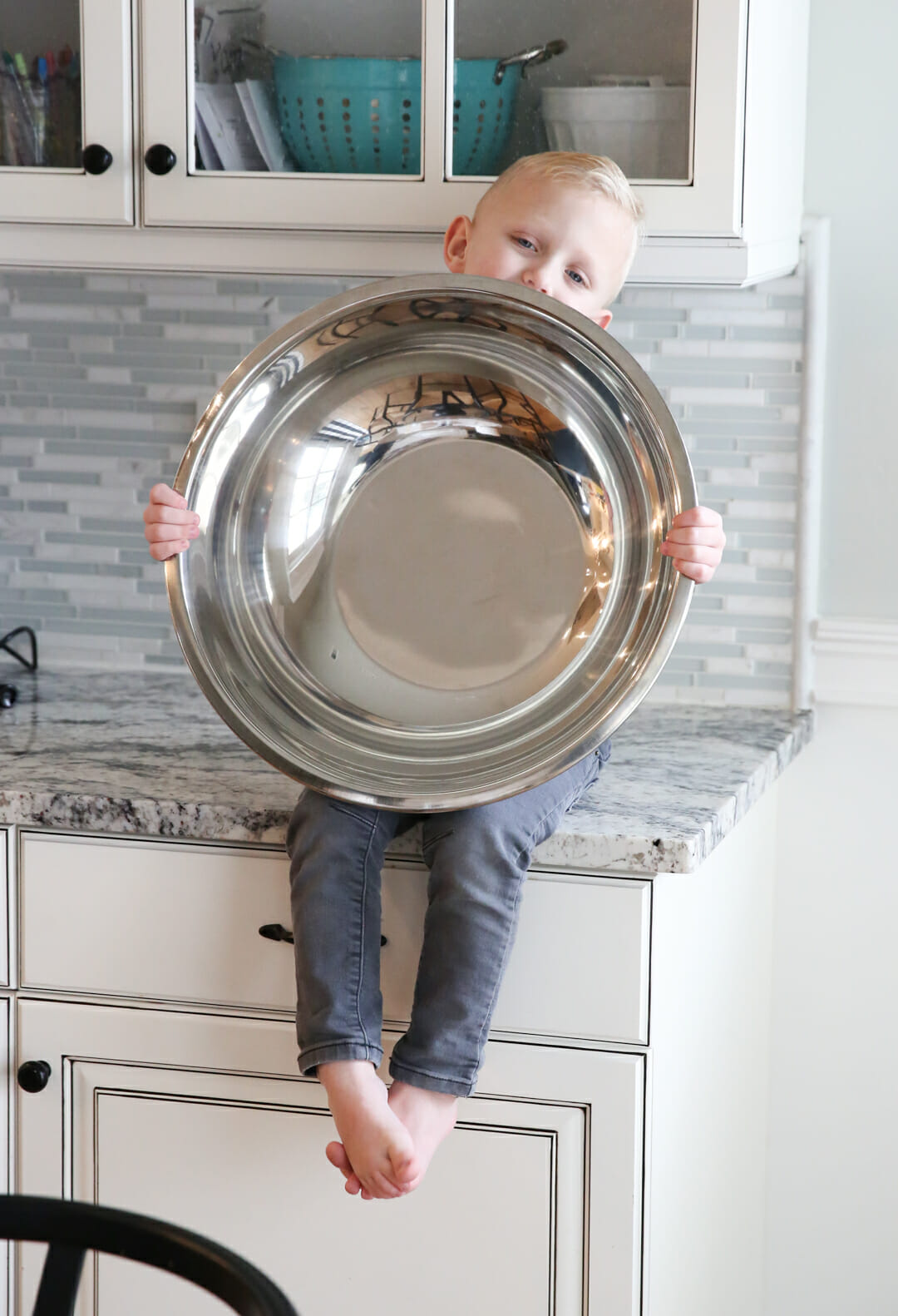 kid with giant mixing bowl