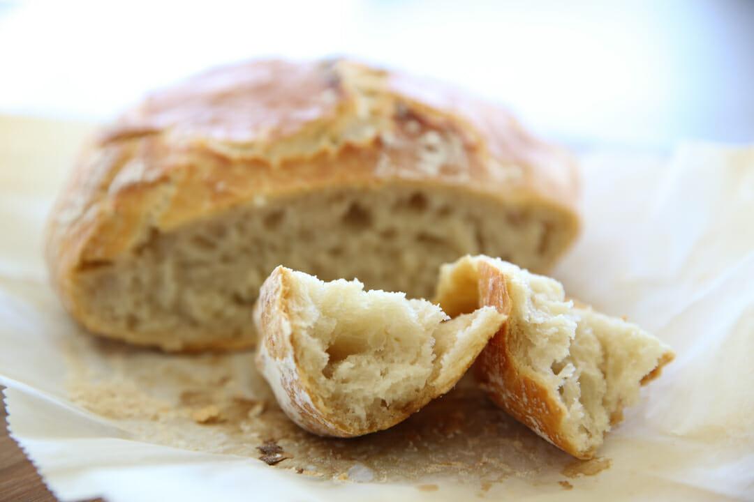 No Knead Artisan Bread Chunks