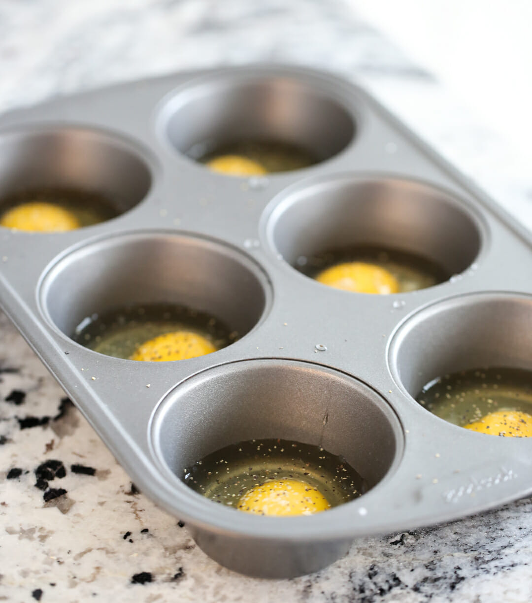 cooking eggs in a muffin tin