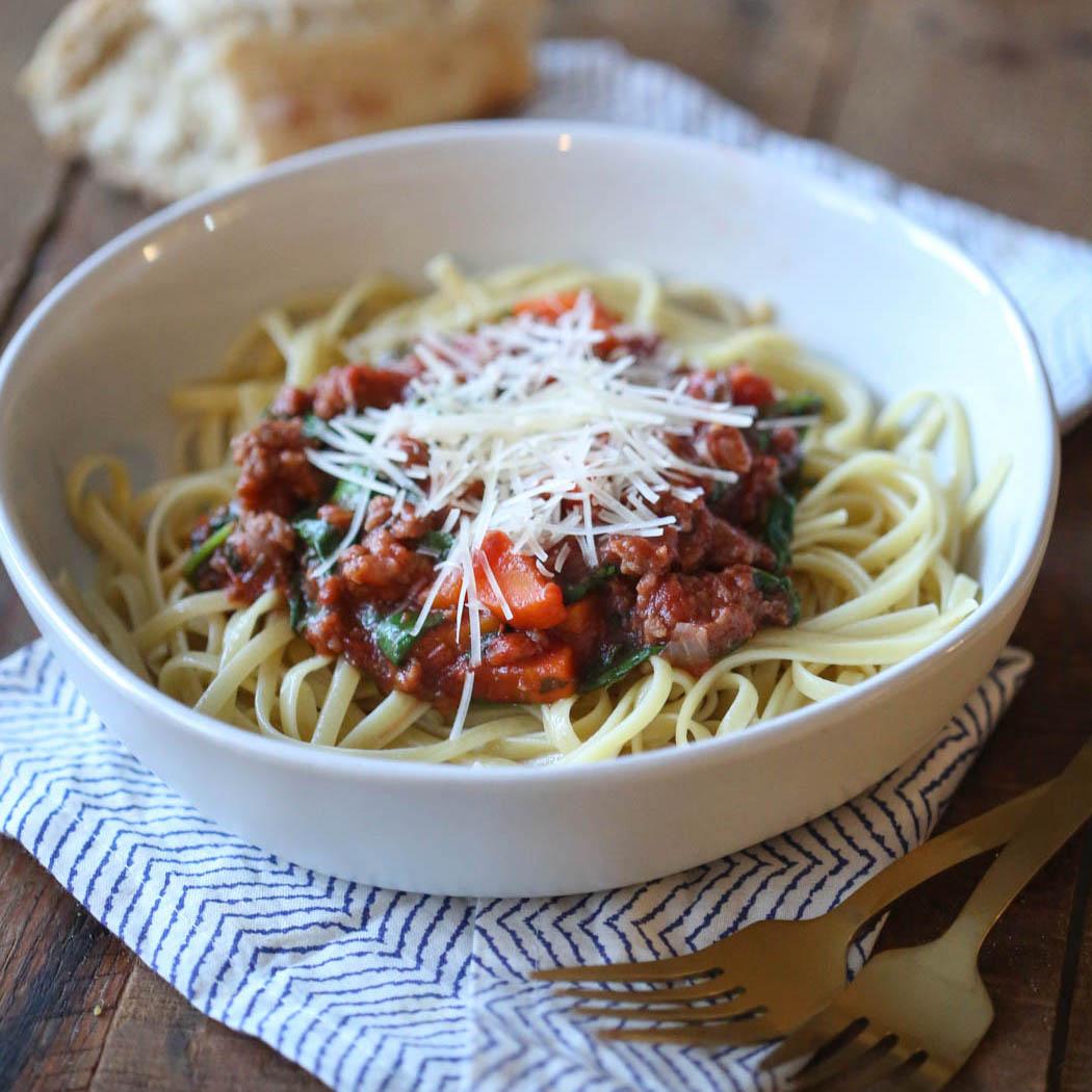 Veggie-Loaded Italian Sausage Pasta Sauce