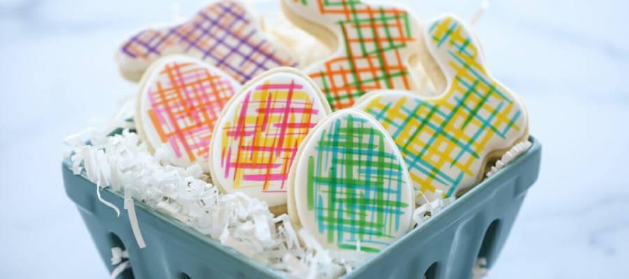 pastel easter cookie designs