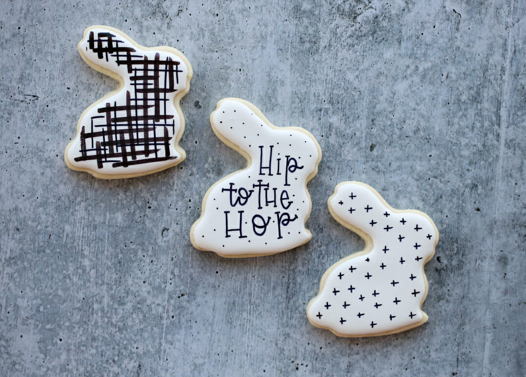 modern easter cookie designs