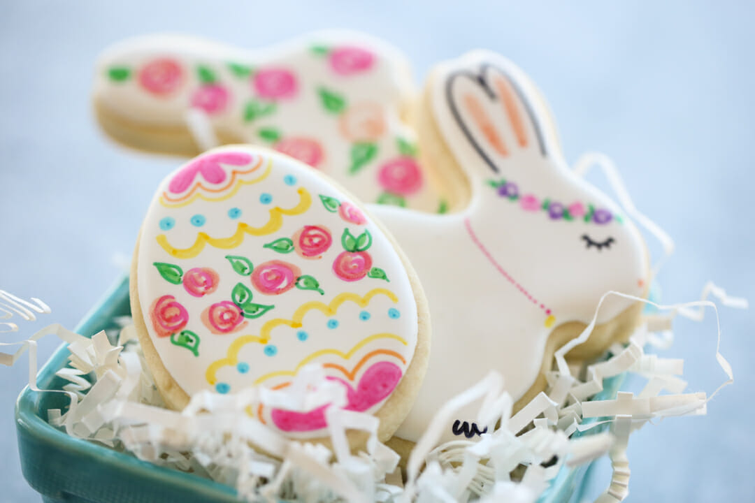 whimsical easter cookies