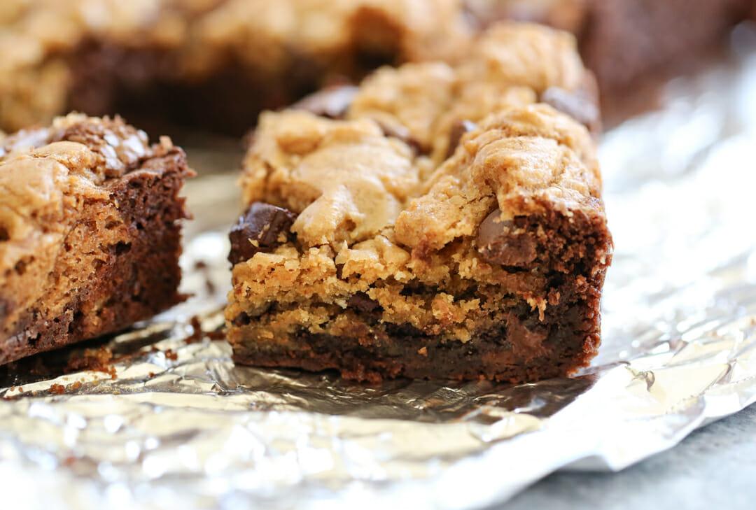 baked brookie