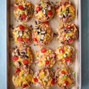 English Muffin Breakfast Pizzas