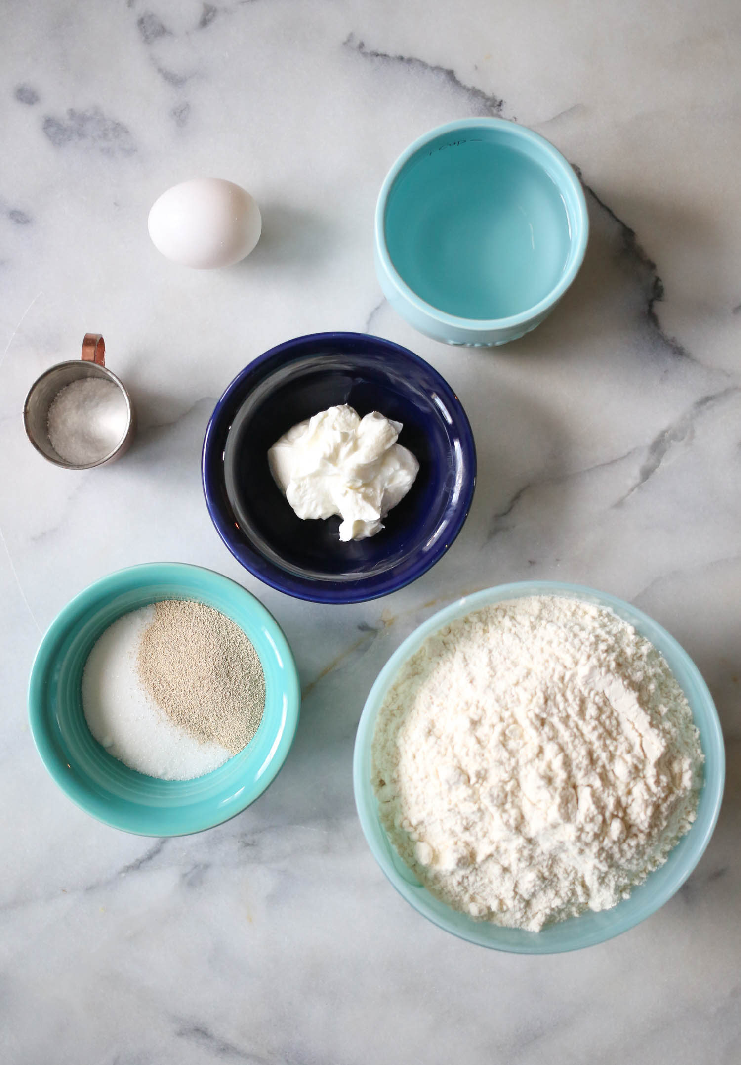 Perfect homemade naan ingredients