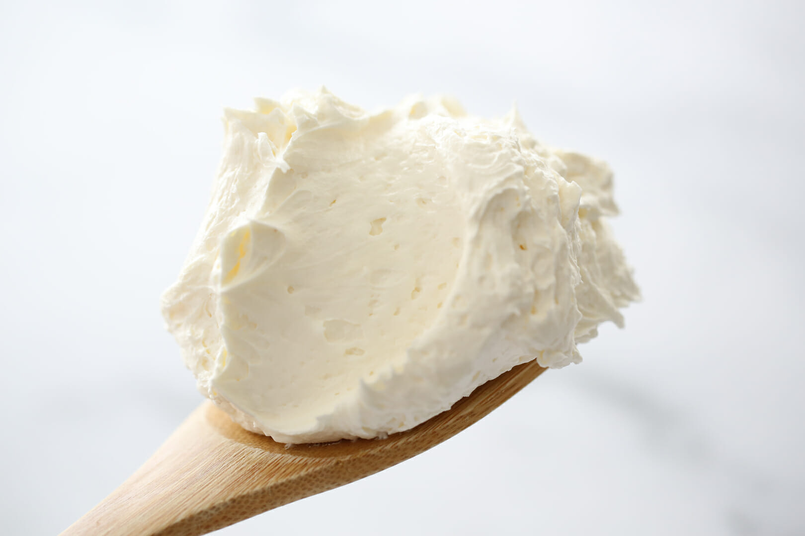 marshmallow buttercream on spoon