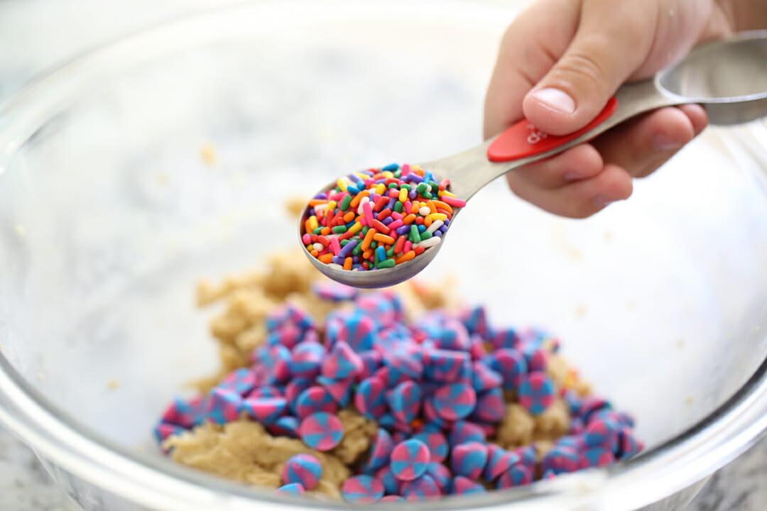 sprinkles in measuring spoon
