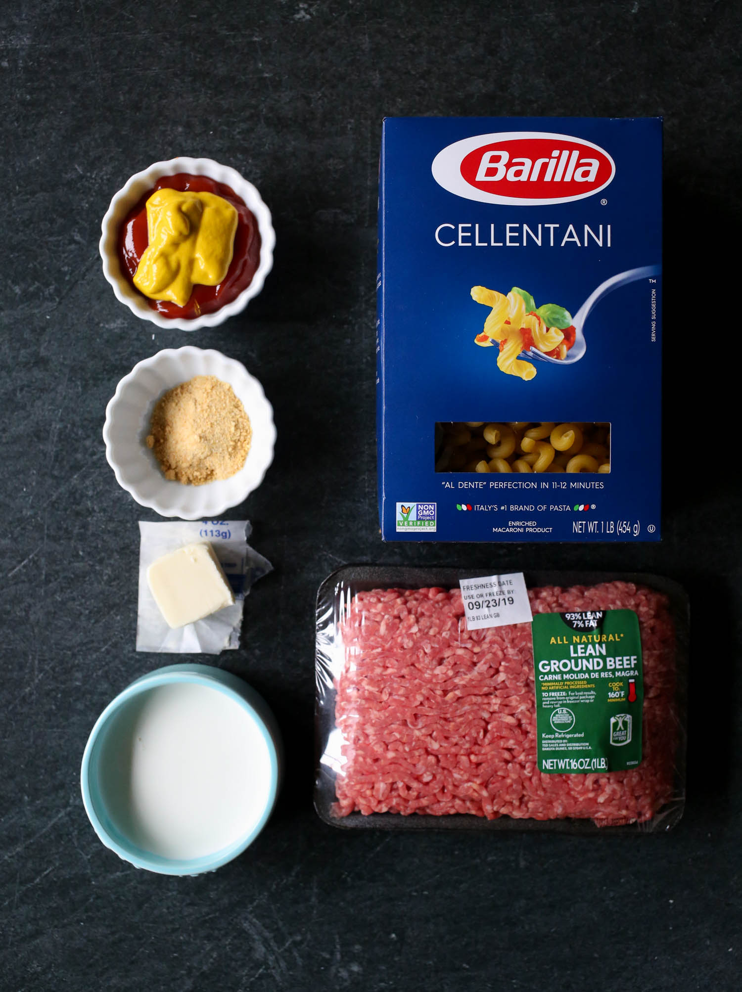 ingredients for instant pot cheeseburger macaroni from our best bites