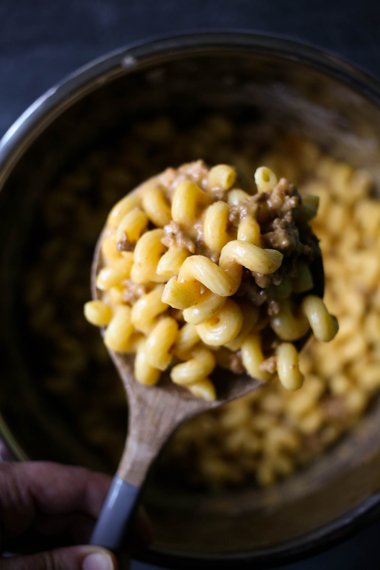 instant pot cheeseburger macaroni from our best bites
