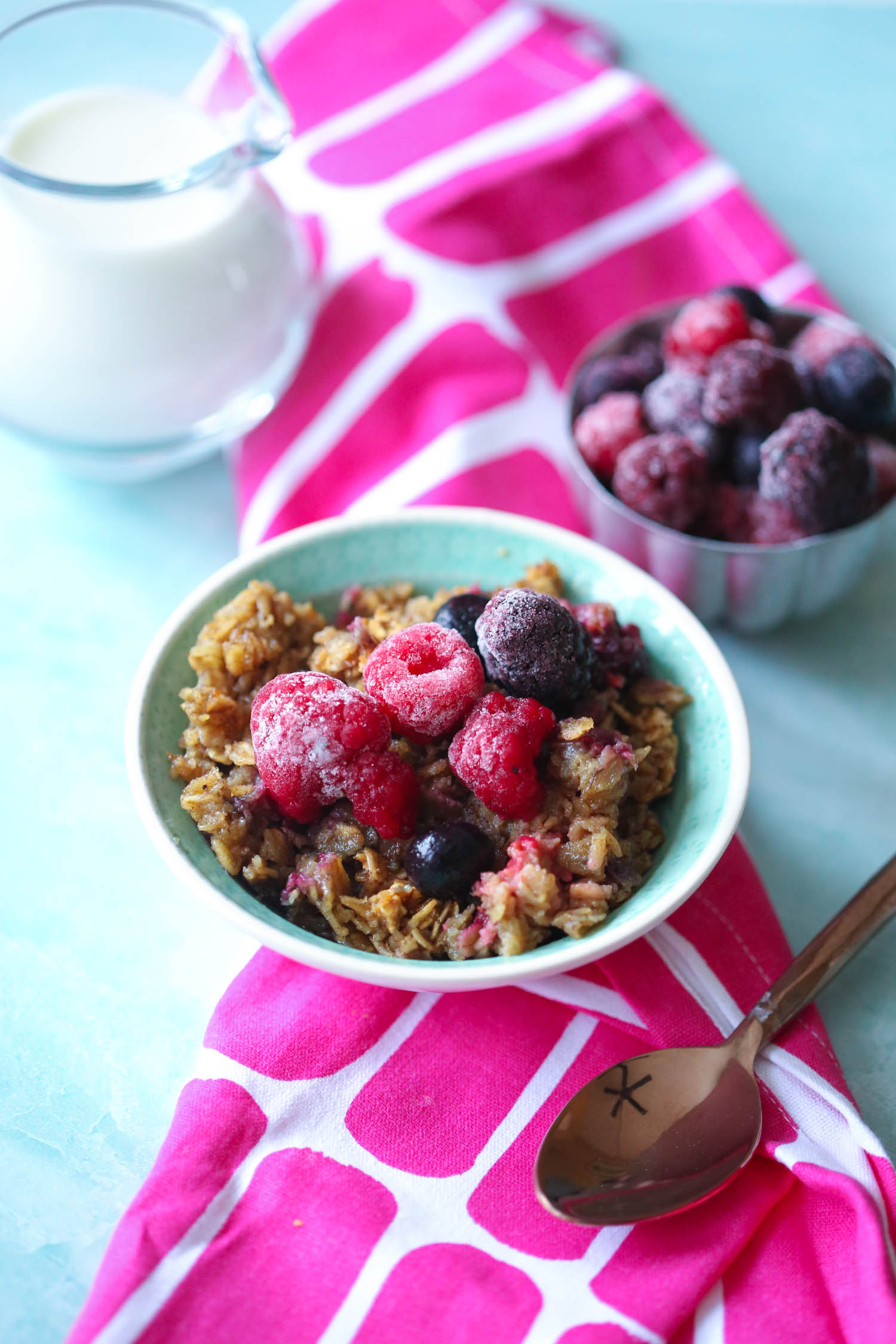 mixed berry baked oatmeal from our best bites