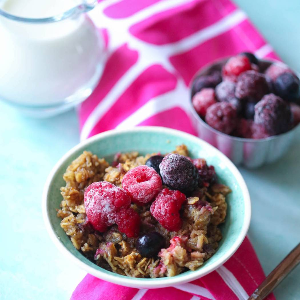 mixed berry baked oatmeal our best bites