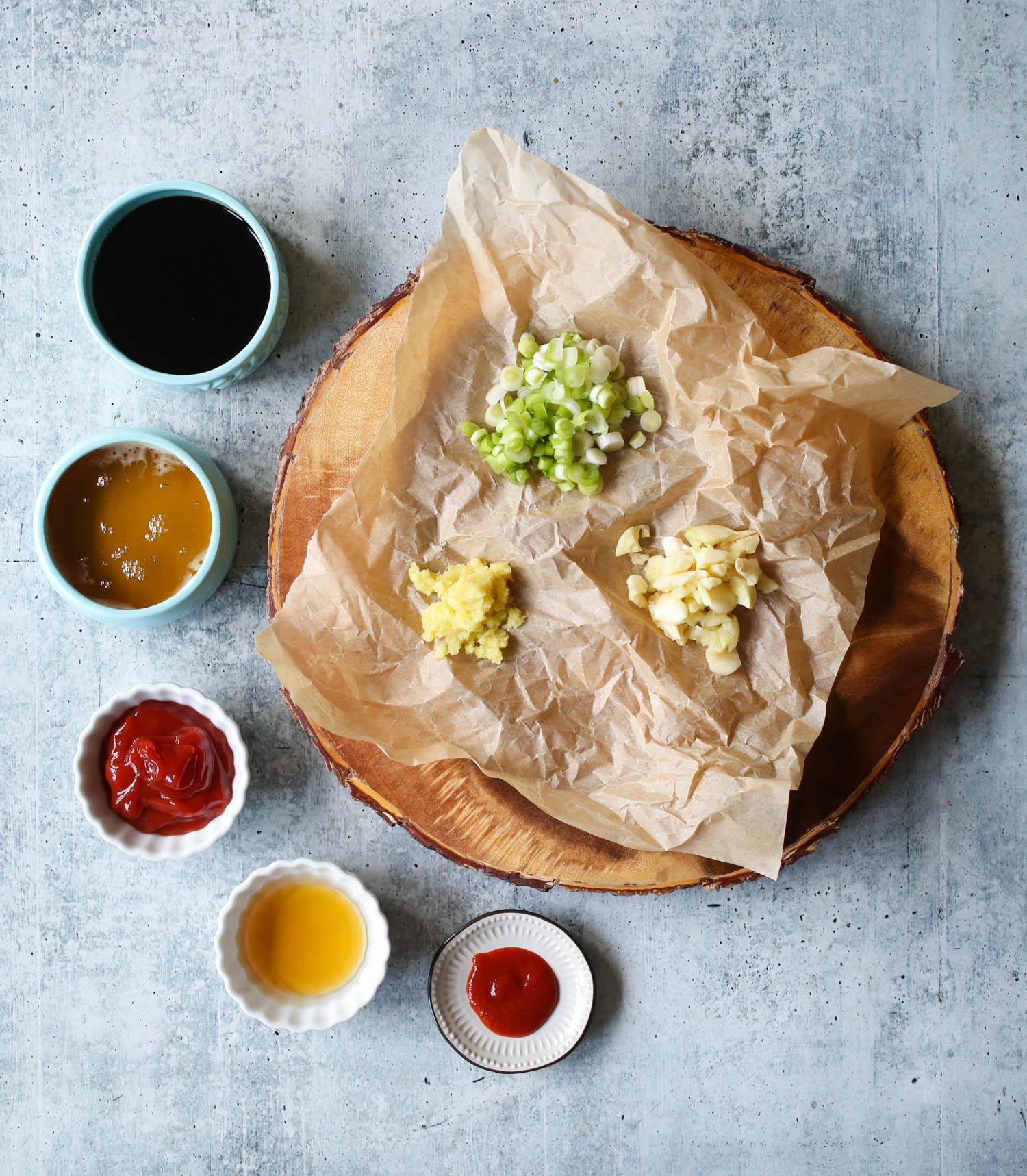 ingredients for Slow Cooker Honey Garlic Chicken