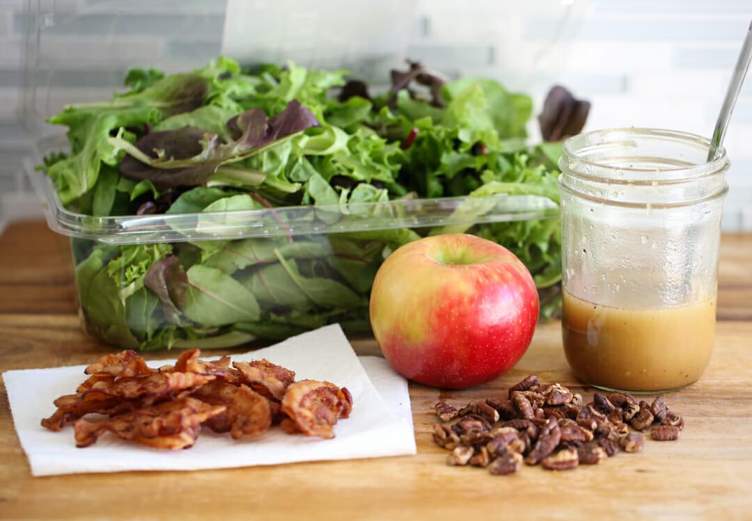 Autumn Salad Ingredients