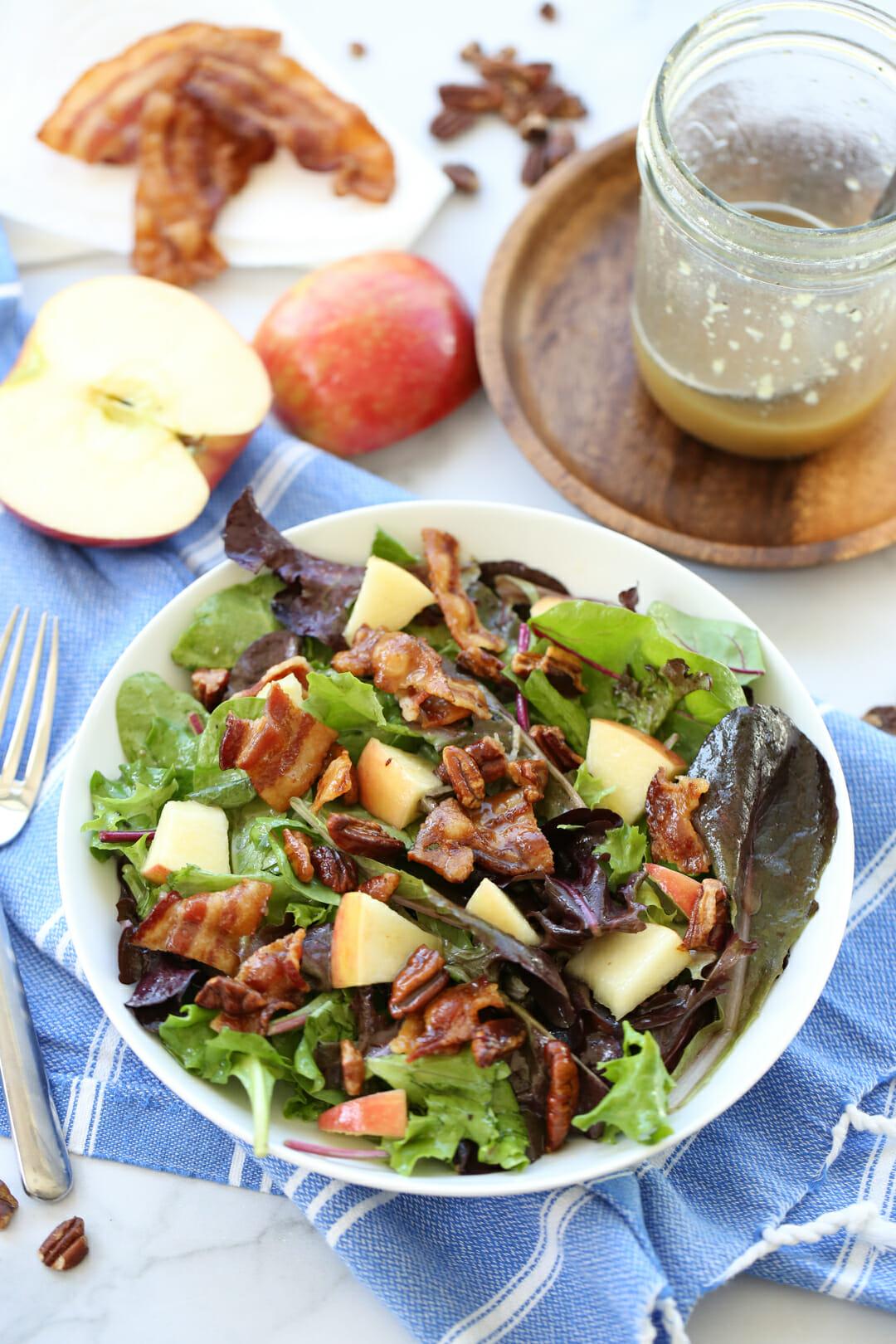 autumn salad on plate