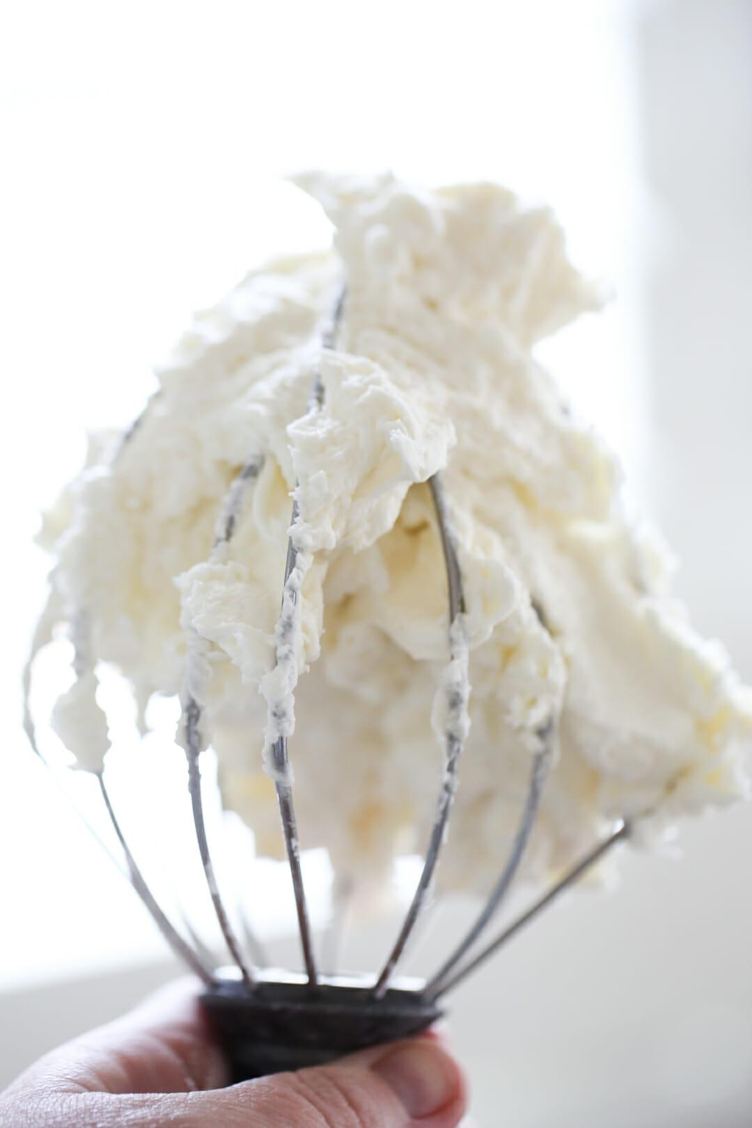 buttercream on whisk