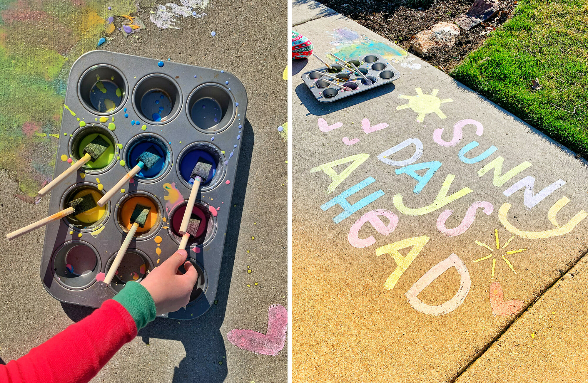 Sidewalk Paint for Kids