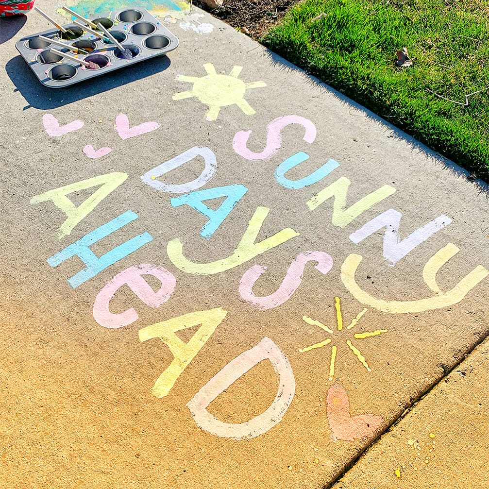 Easy DIY Sidewalk Chalk Paint