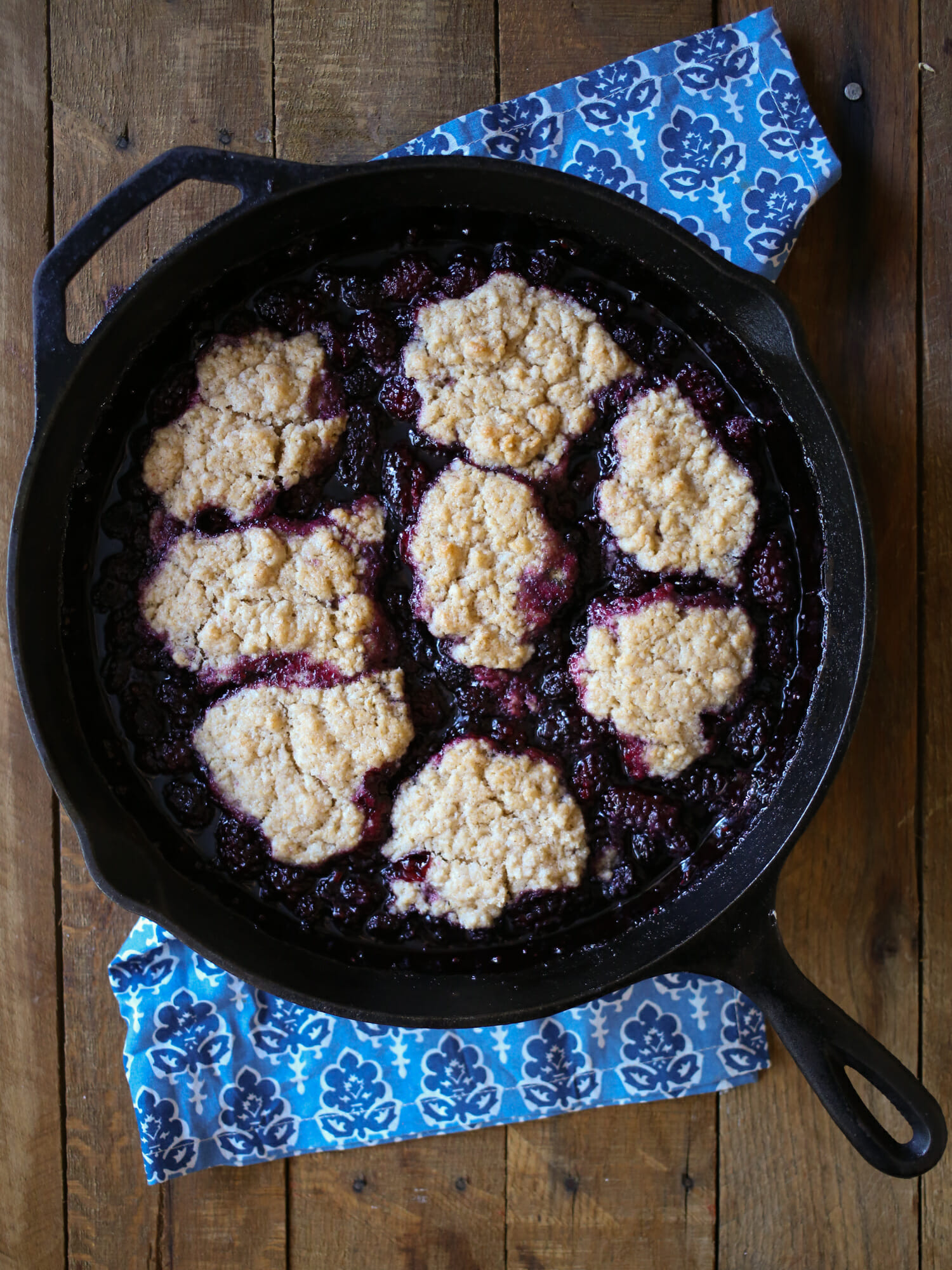 skillet blackberry cobbler from our best bites
