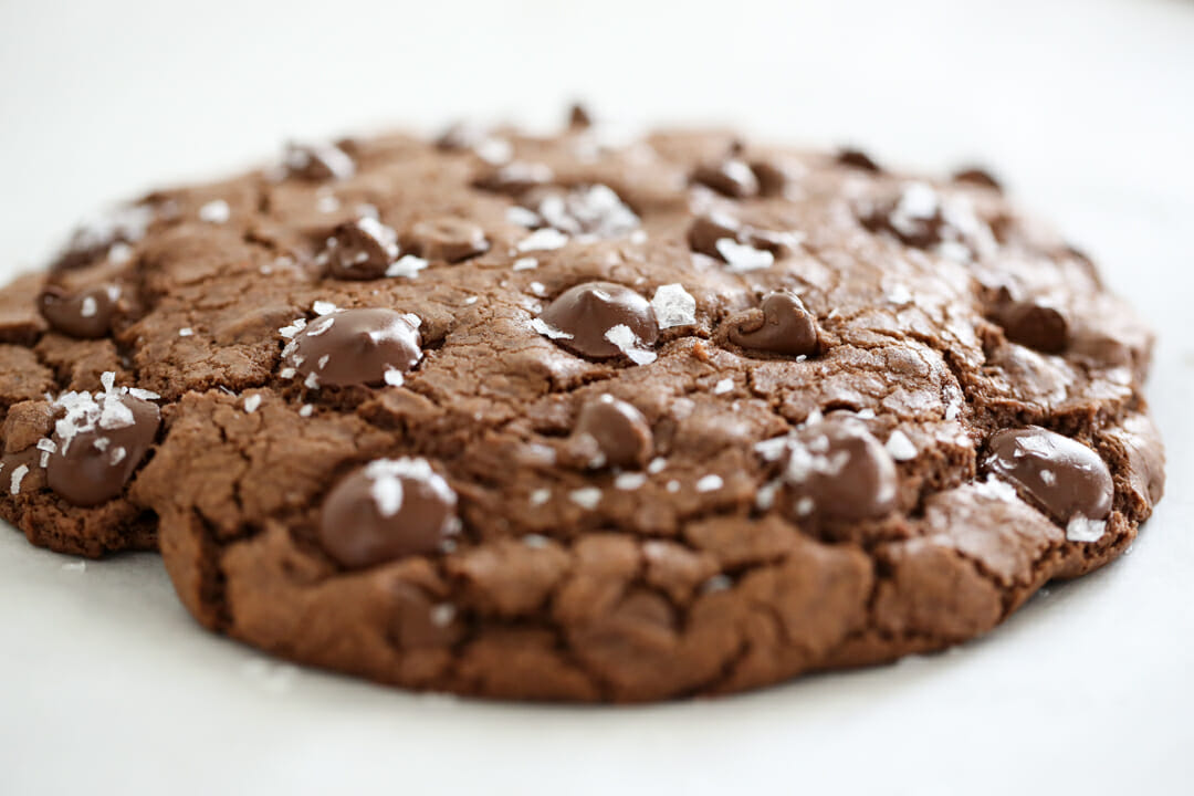 Giant Double Chocolate Fudge Cookie