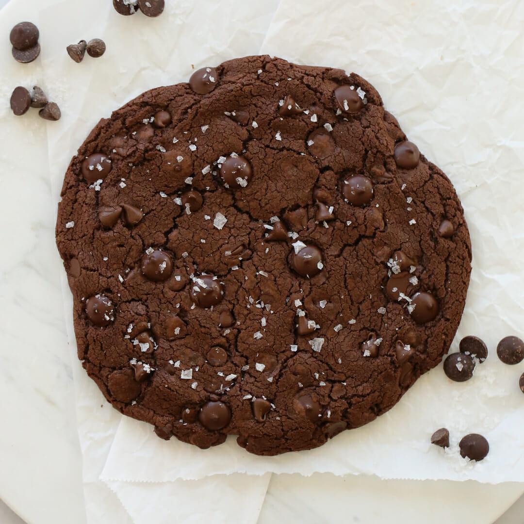 Big Giant Double-Chocolate Fudge Cookie