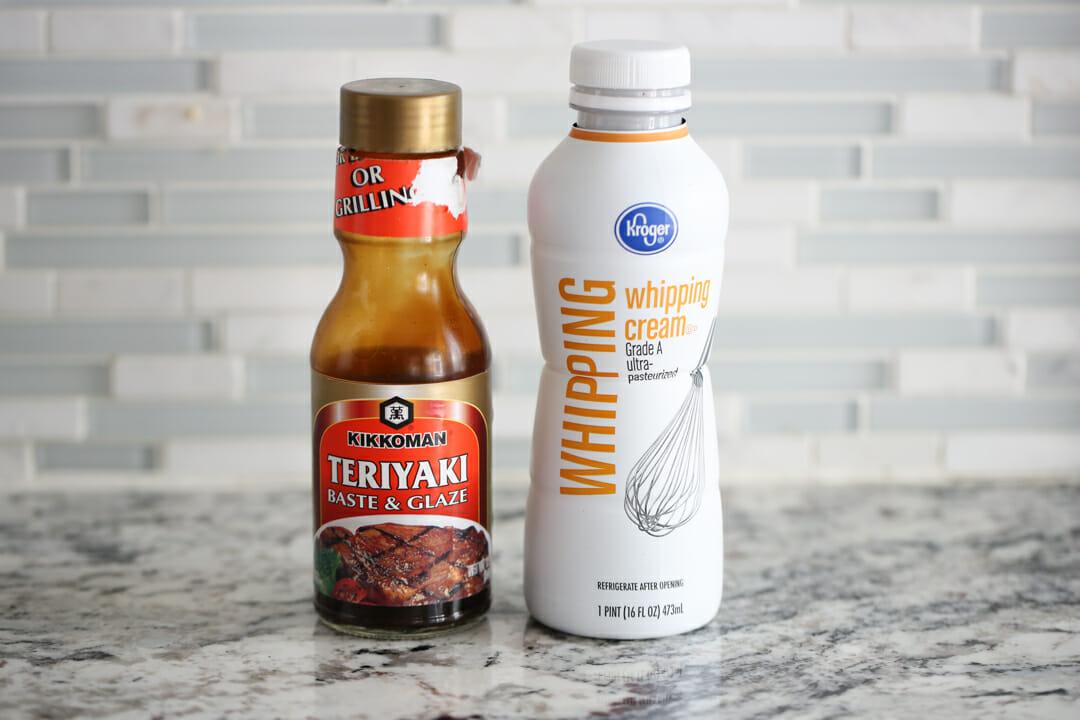 teriyaki sauce and cream