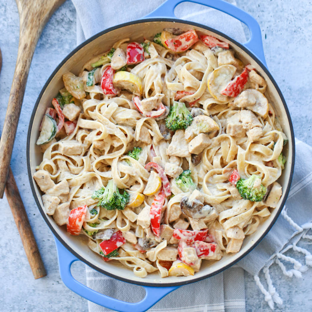 Teriyaki Chicken Alfredo Pasta Recipe