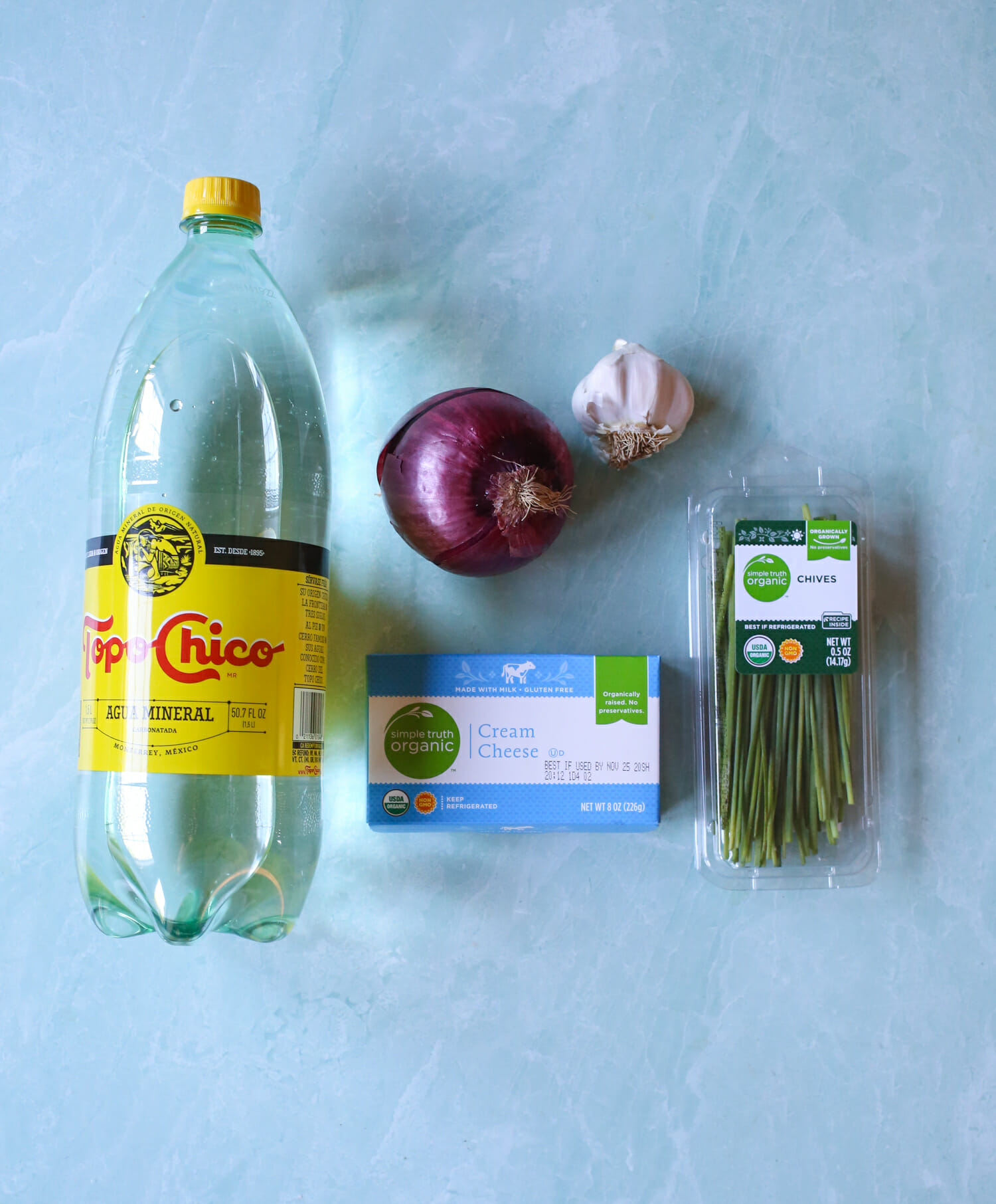ingredients for deli style whipped cream cheese