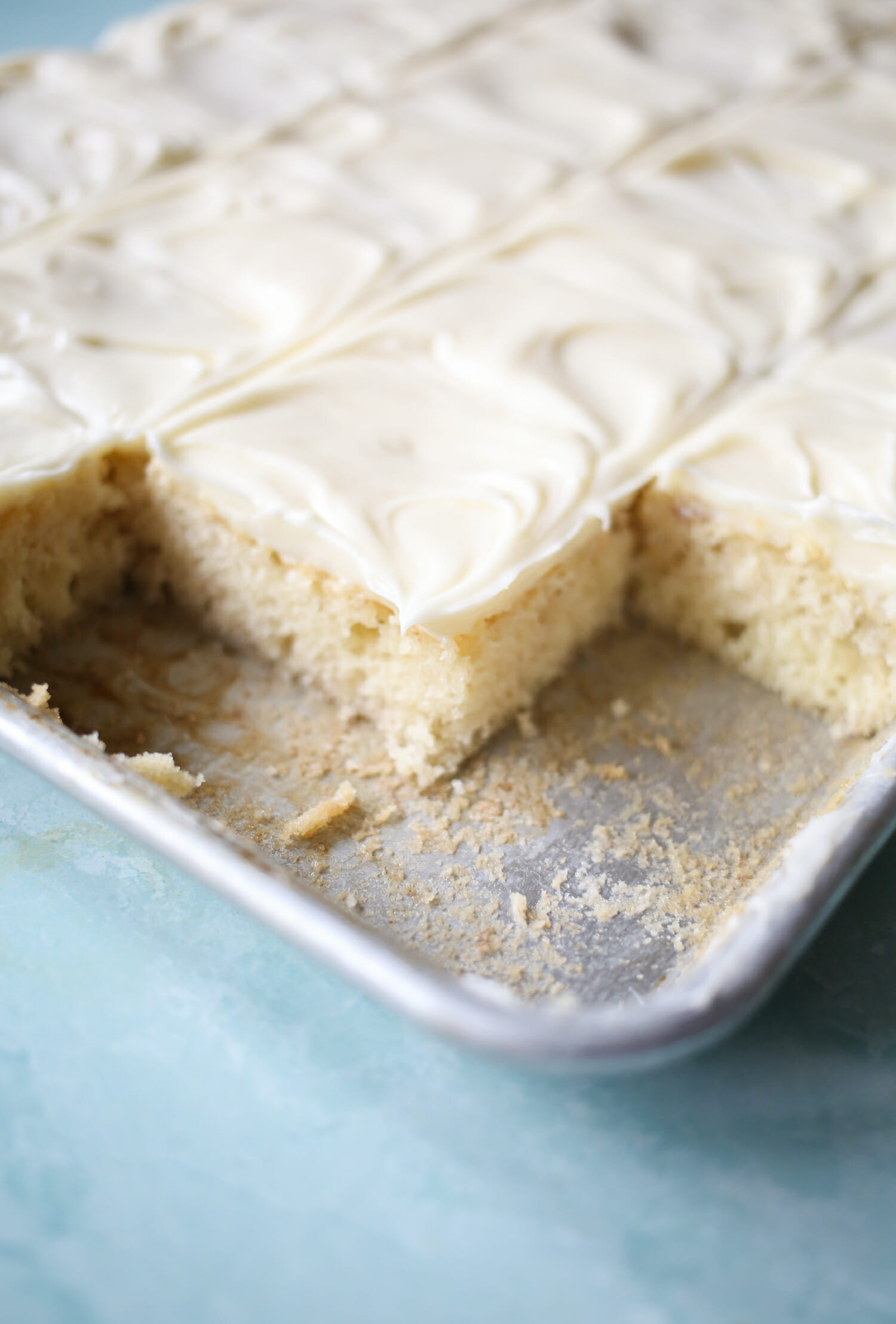 banana bars with cream cheese icing from our best bites