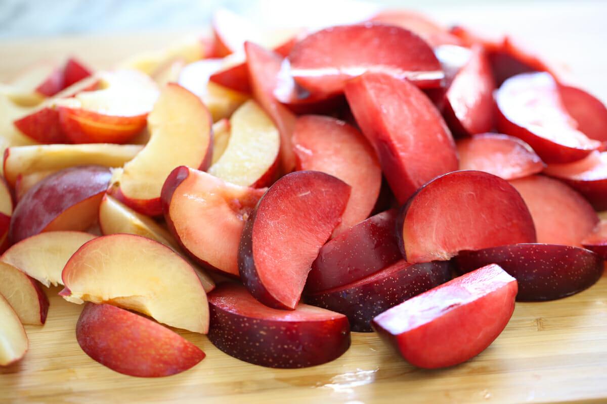sliced caramelized stone fruit recipe