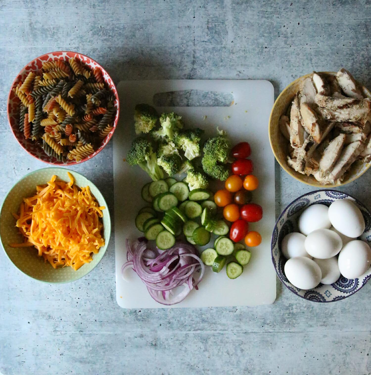 grilled chicken salad jar ingredients