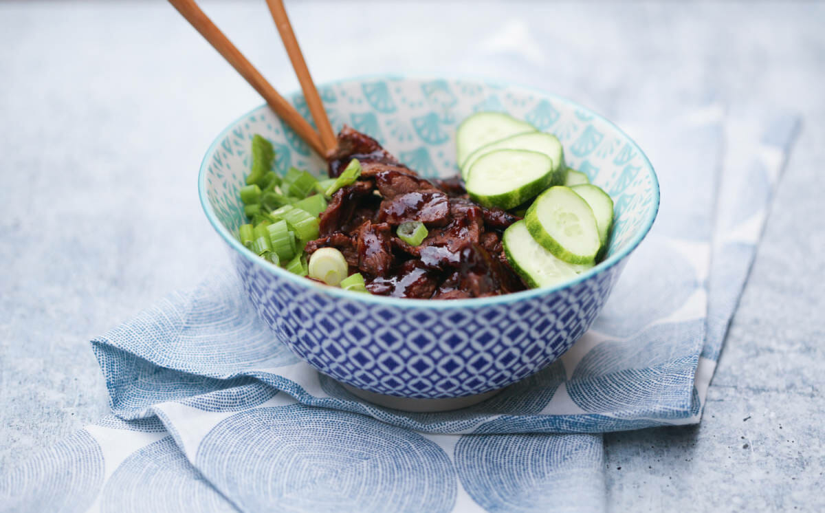 Korean Beef Noodle Bowls