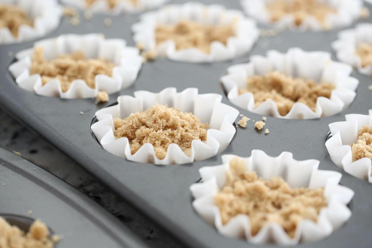 banana muffins before baking
