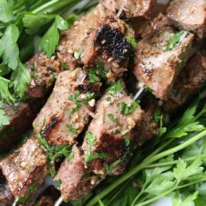 Garlic Sirloin Beef Skewers