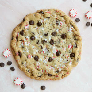 Candy Cane Chocolate Chip Cookie!