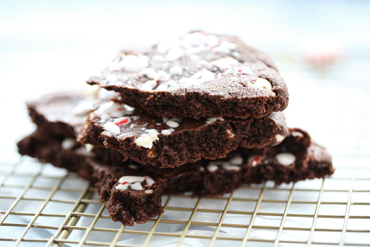 Chocolate Peppermint Bark Cookie