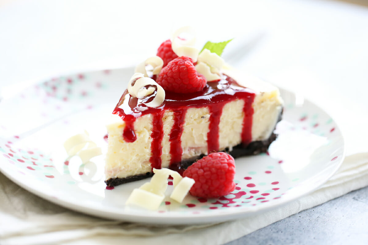Slice of Raspberry Cheesecake