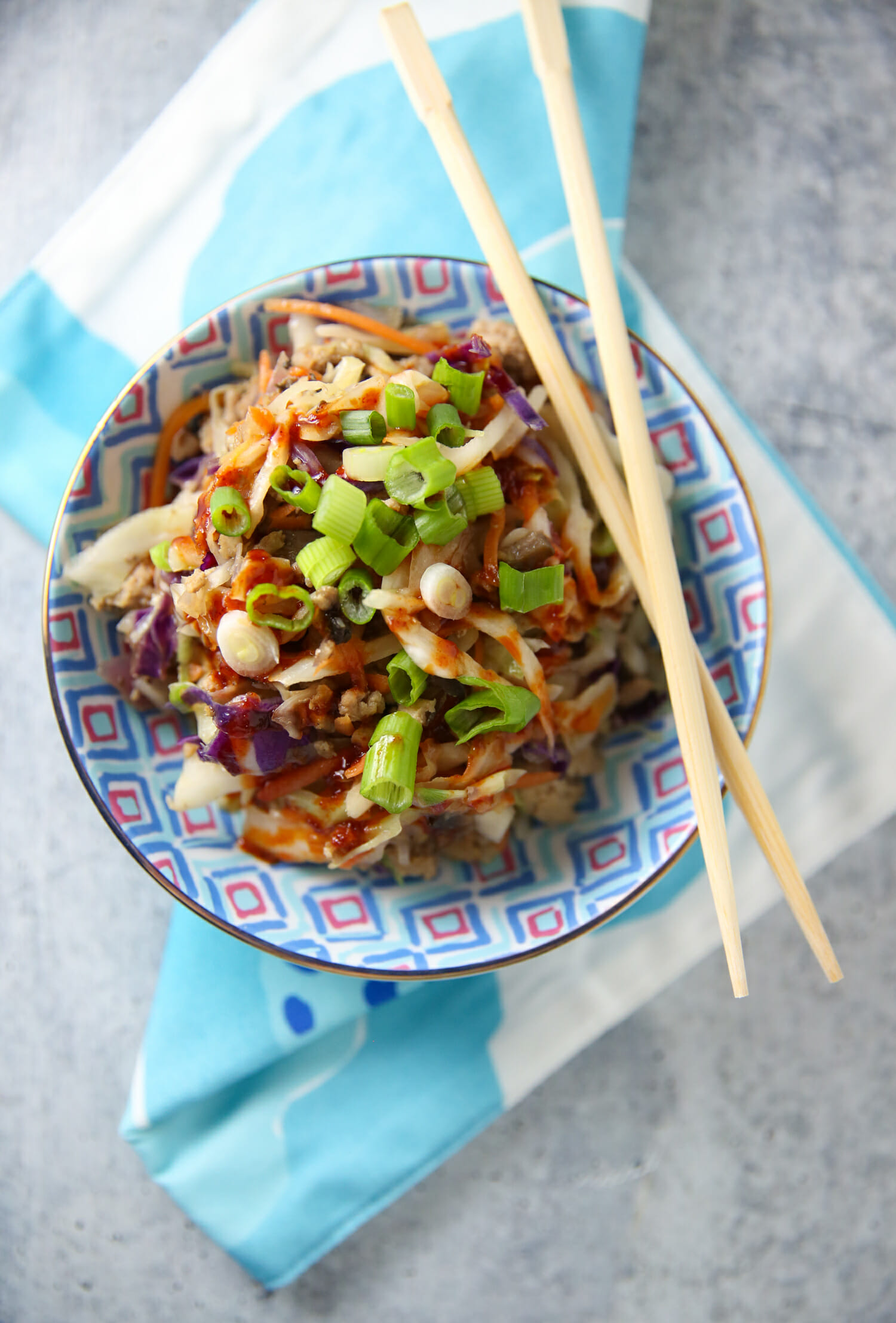 egg roll in a bowl from our best bites