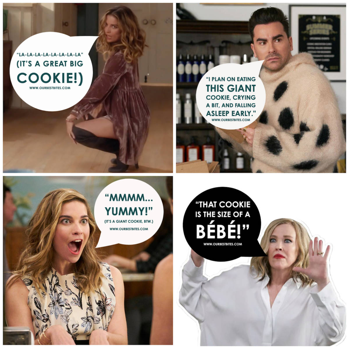 Schitt's Creek Giant Cookie Labels
